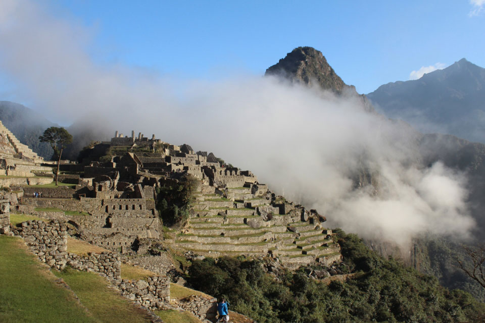 Machu Picchu is set high in the Andes in Peru. It was built in the 15th century and later abandoned. (Photo credit: Sophie Muir)