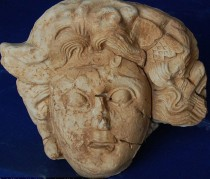 Marble Medusa Head found in southern Turkey