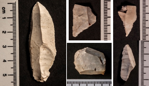 Late Glacial chipped stone tools. Credit: University of Reading.