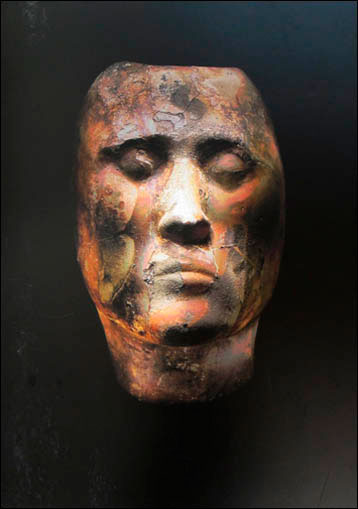 A Tashtyk death mask found previously is held in the State Hermitage Museum in St. Petersburg, among other museums. Photo Credit: Boris Dolinin.