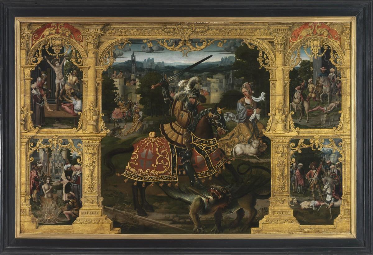 Lancelot Blondeel, The Legend of Saint Georges, approximately 1535-1540. Musea Brugge Photo Credit: Lukas-Art in Flanders vzw photo Hugo Maertens©.