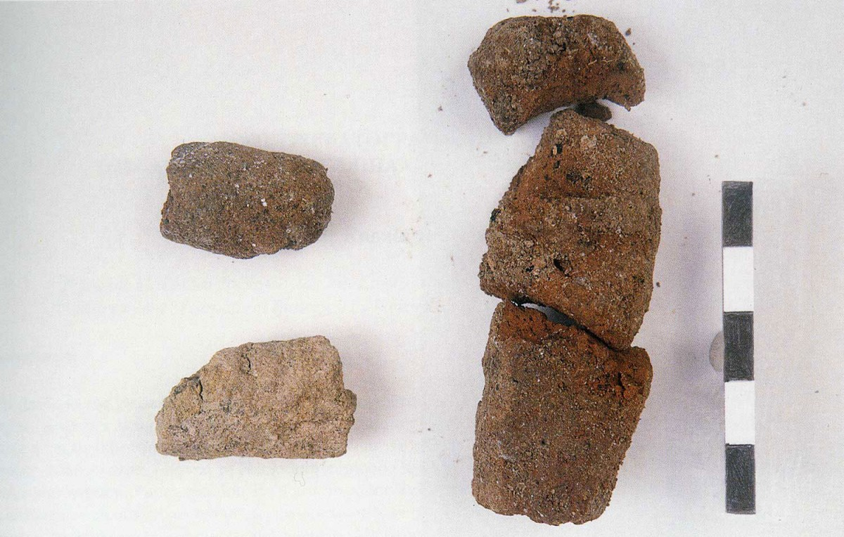 Fig. 29. A close-up of uncooked clay formation of Mesolithic period.