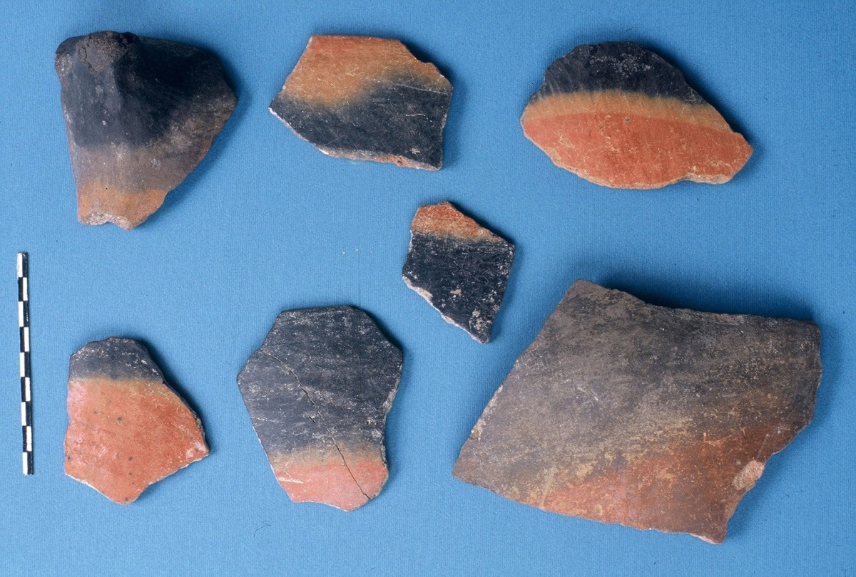 Fig. 18. Fragments of blacktopped vessels from the Upper Neolithic.