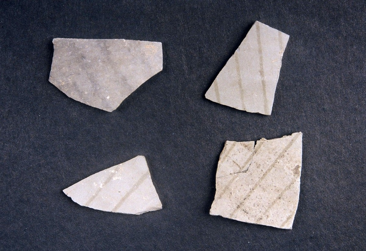 Fig. 21. Sherds with grey on grey decorations from the beginning of the Late Neolithic period.