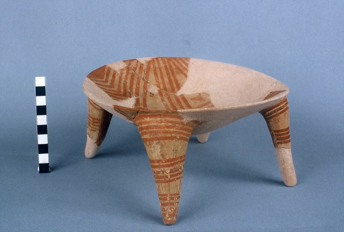 Fig. 24. Painted offering table, from the Middle Neolithic.