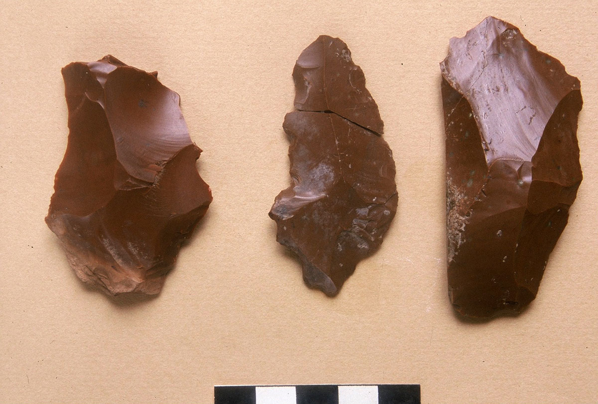 Fig. 5. Stone tools of flint, Middle Palaeolithic.