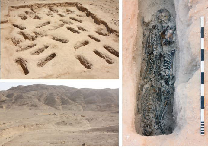 Excavating the North Tombs cemetery.