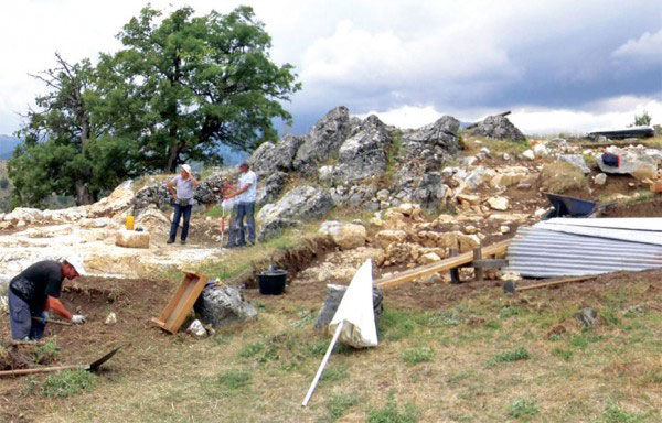 Excavations at the ancient acropolis at Kastri Grevena. Photo Credit: AUTH.