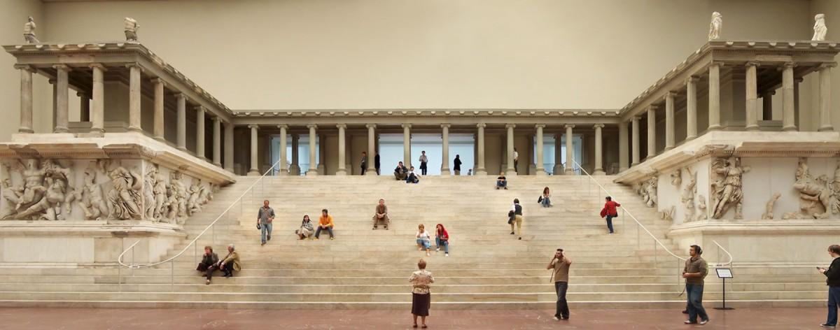 Altar to Zeus in the Pergamonmuseum, Berlin.