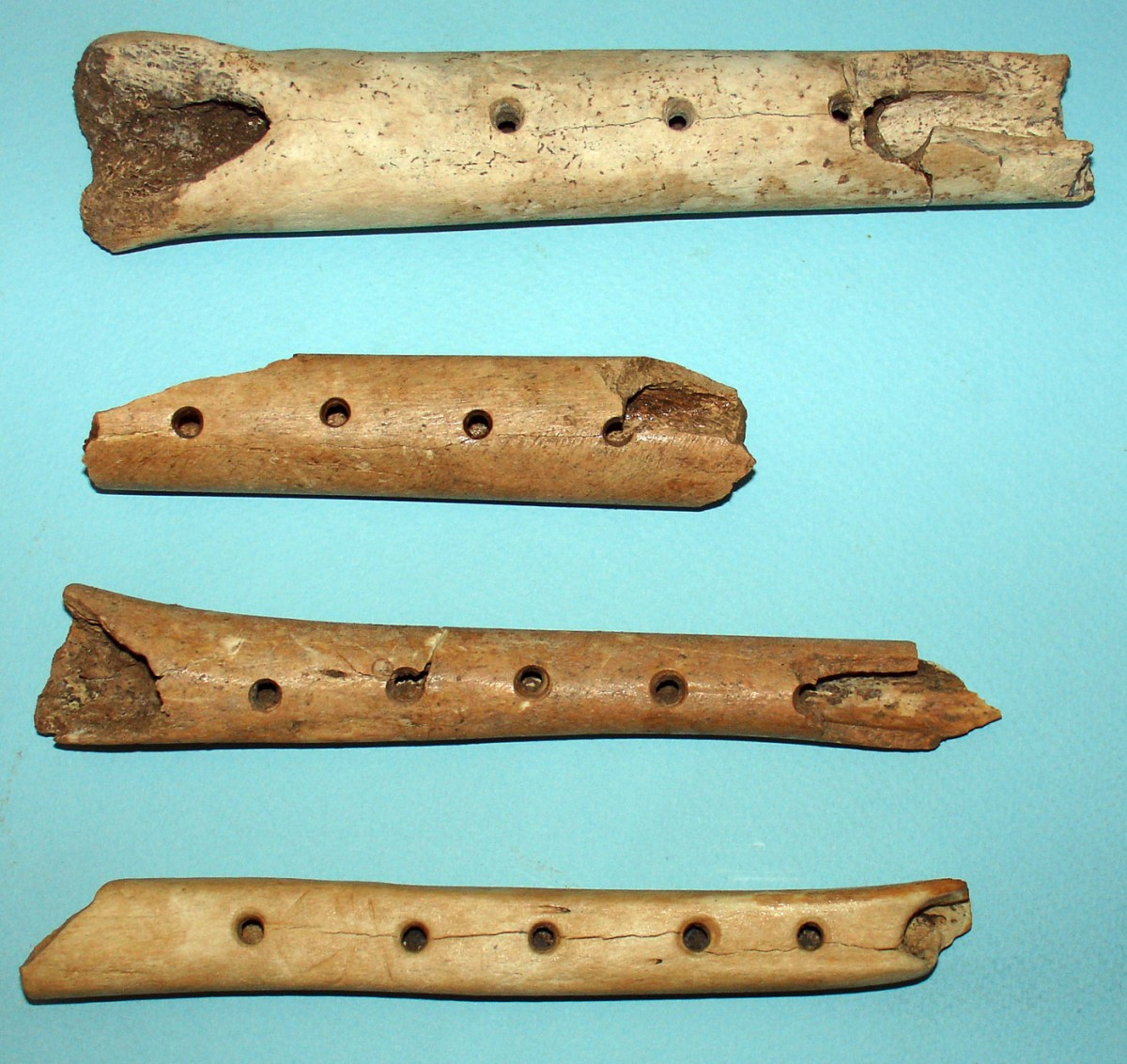 Fig. 8.  Flutes made of bone.