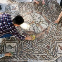 Impressive new mosaic uncovered in Lod