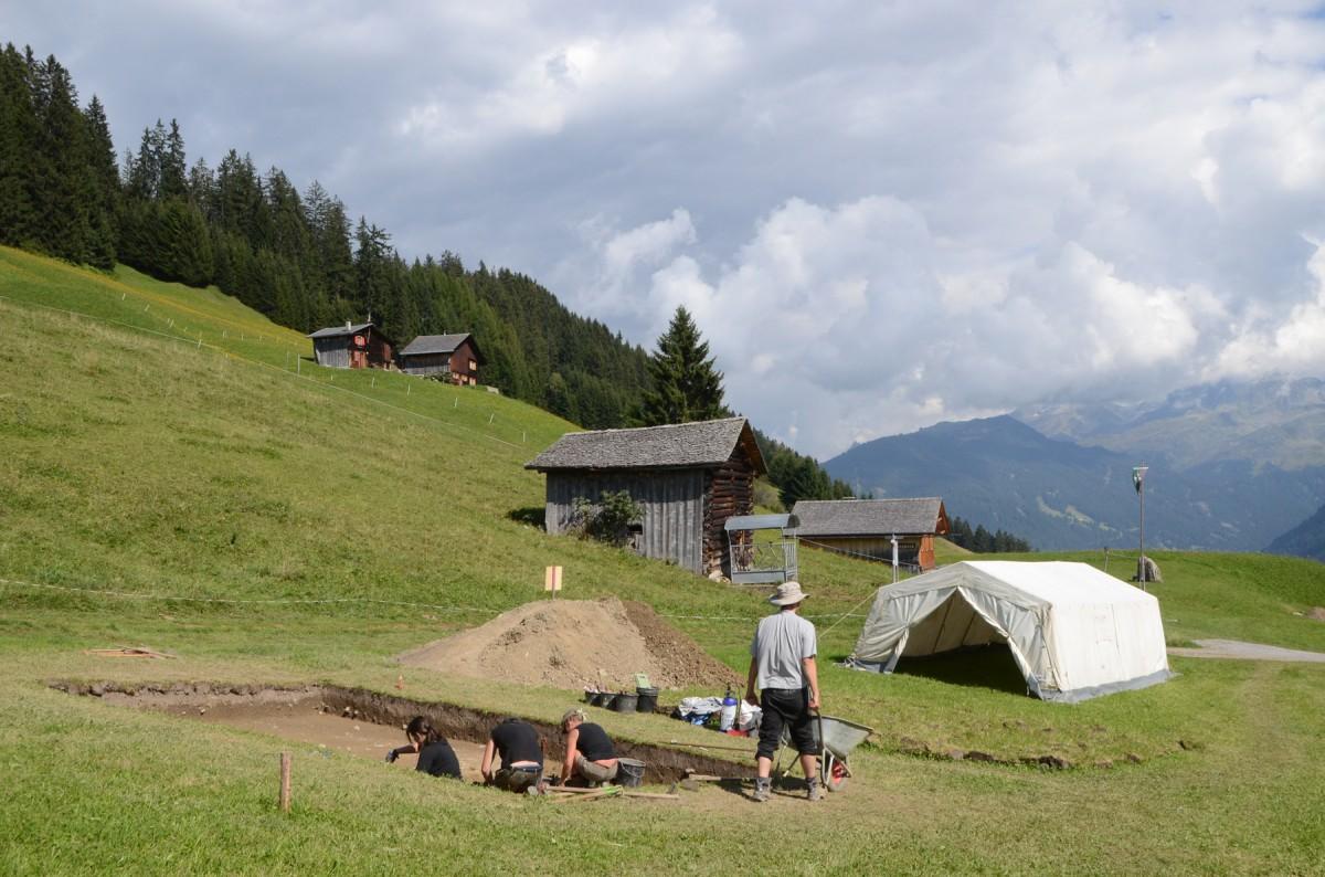 View of the excavation in Montafon. Credit: Goethe University