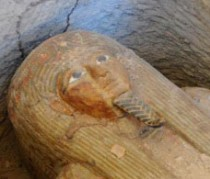 Extremely well preserved Egyptian sarcophagus found