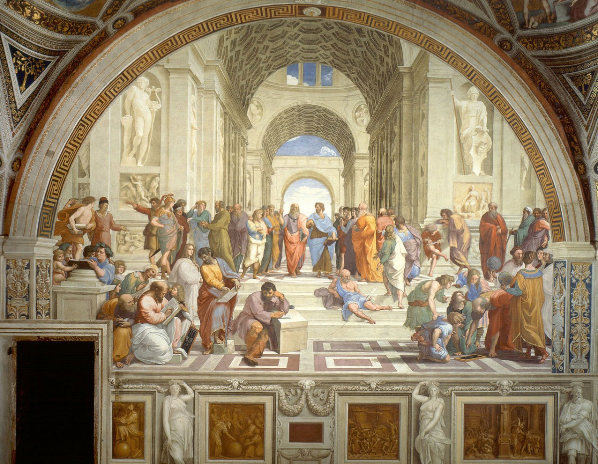 The School of Athens, Raphael, 1509-1511. Apostolic Palace, Vatican City.