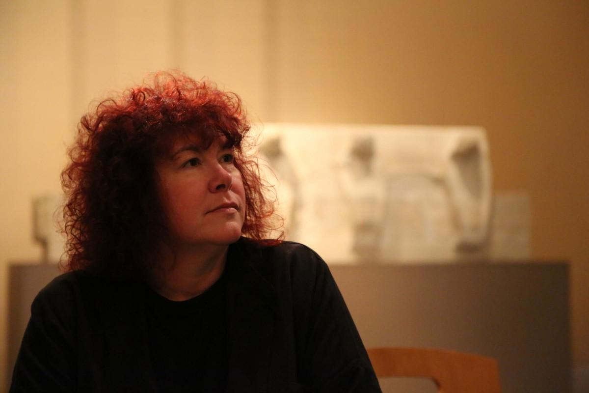 Professor Joann Fletcher in Egypt. Photo Credit: The Press.