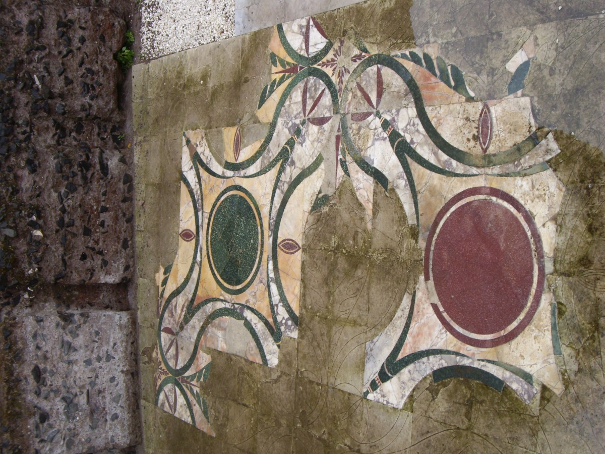 Krokean stone at the Forum Romano (Palatino) in Rome