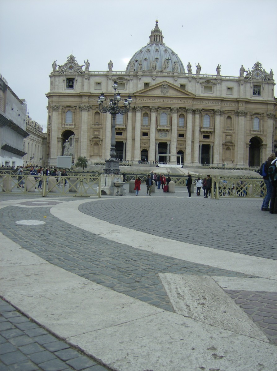 Krokean stone at the square of Saint Peter's basilica in the Vatican