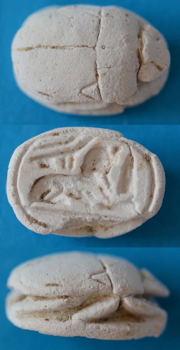 Scarab 19th Dynasty (roughly 13th - 12th c. BC), Dromolaxia-Vizakia (Hala Sultan  Tekke) 2015.