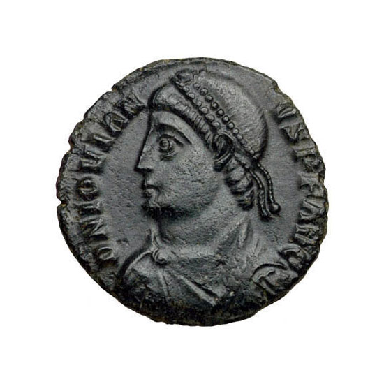 Fig. 6. Solidus of emperor Jovian with his image engraved on it.
