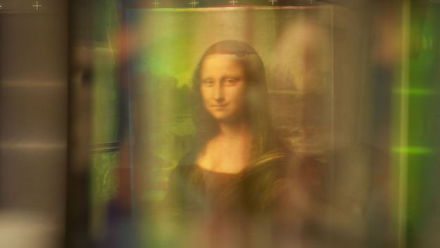 Reflective light technology was used to analyze the Mona Lisa. Photo Credit: BBC.