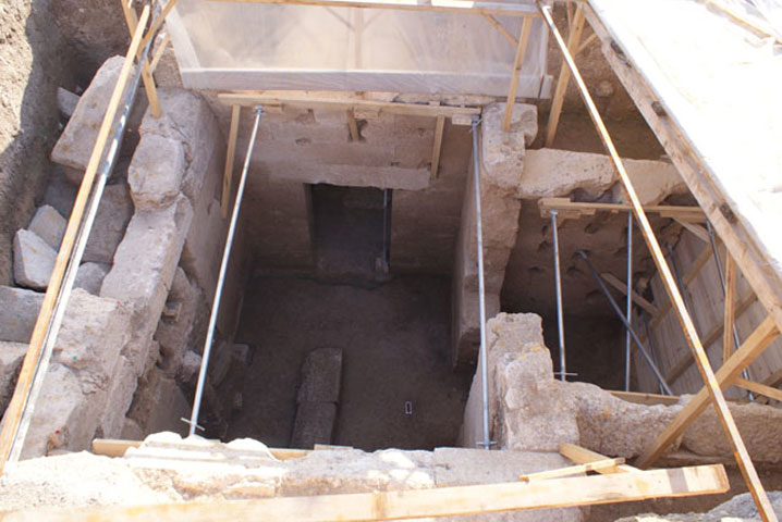 The tomb had been looted during antiquity like most of the Macedonian graves.