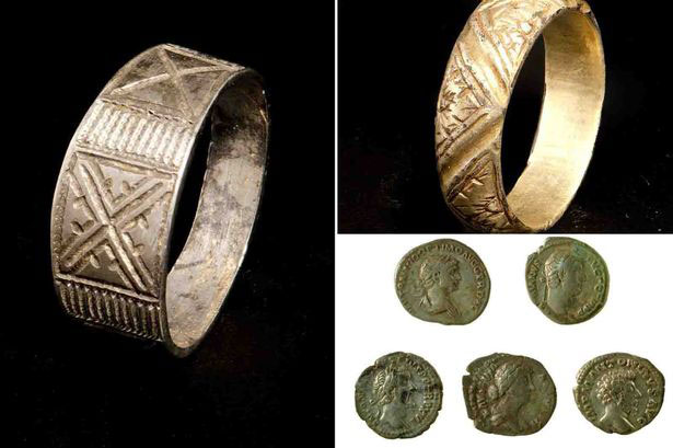 A hoard of Roman silver coins and two medieval finger rings have been declared treasure by H.M. Coroner for Cardiff and The Vale of Glamorgan. Photo Credit: WalesOnline.