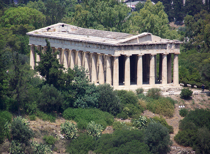 View of Hephaisteion of Athens in 2008 Photo Credit: Guillaume Piolle/ Wikimedia Commons.
