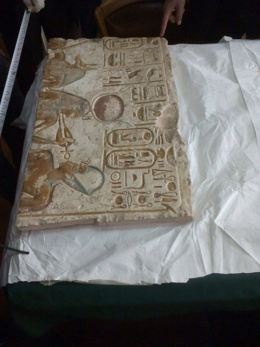 The Stela was recovered from a London auction house and returned to Egypt.