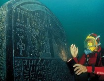 Exhibition with underwater Egyptian antiquities in London