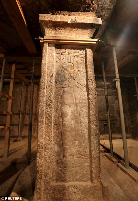 Mystery: Except for the information found in the inscriptions and engravings around the walls, very little is known about the wet nurse. Credit: Reuters.