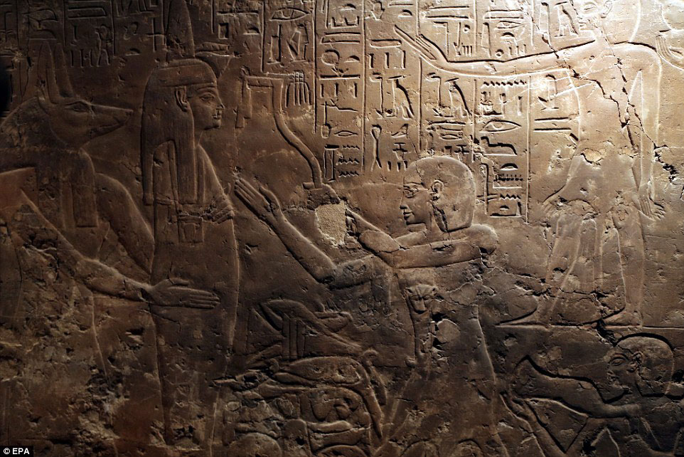 Egypt's antiquities minister described the opening of the tomb as being 'very important', because it coincides with recent survey and exploration work carried out in Tutankhamun's tomb in the Valley of the Kings. Credit: EPA