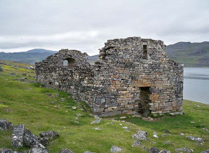 Vikings colonized Greenland and possibly neighboring Baffin Island during what has been assumed to be—perhaps mistakenly -a temporary warm period. They disappeared in the 1400s. Southern Greenland's Hvalsey church is the best preserved Viking ruin. Photo Credit: Wikimedia Commons.