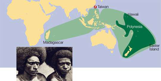 The languages known as Austronesian are spoken by more than 380 million people in territories that include Taiwan, Malaysia, Indonesia, the Philippines, Madagascar and the islands of the Pacific.