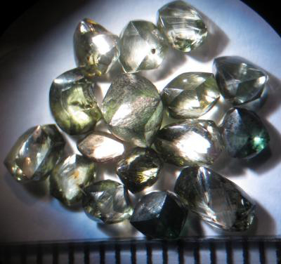 Cluster of the Witwatersrand diamonds. Credit: Wits University