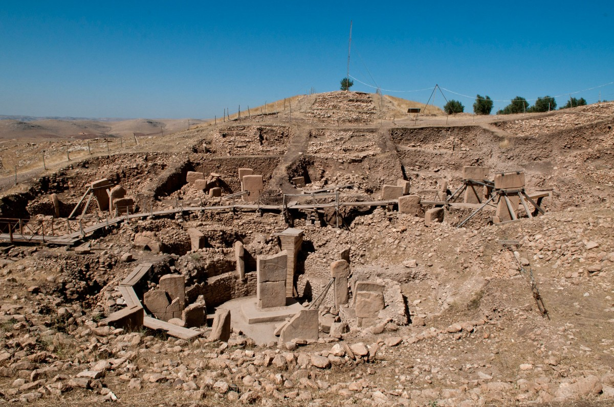 The ruins of Göbekli Tepe.