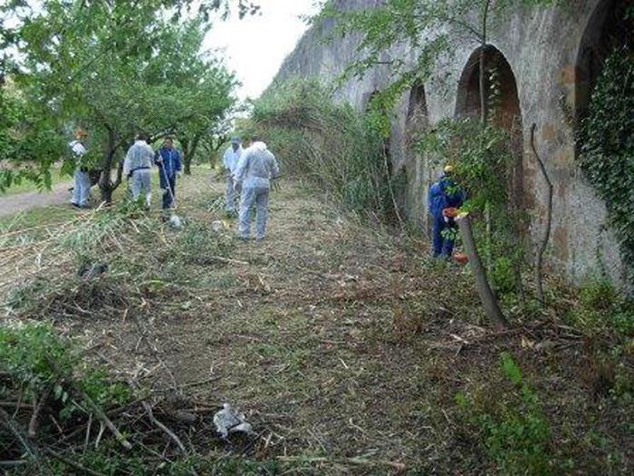 Italian municipal police in Rome have discovered underground illegal dump-site at the tunnels and chambers of ancient catacombs. Photo Credit: ANSA.