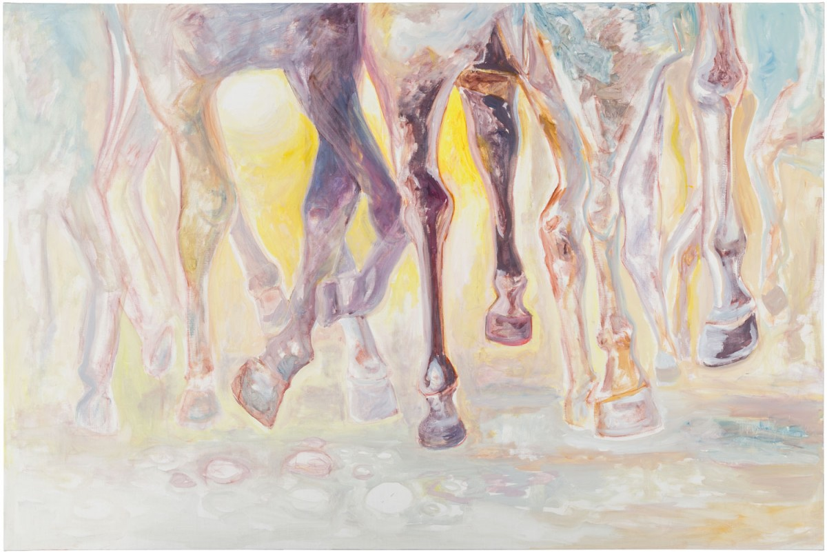 Painting by Jamal, shown in the exhibition