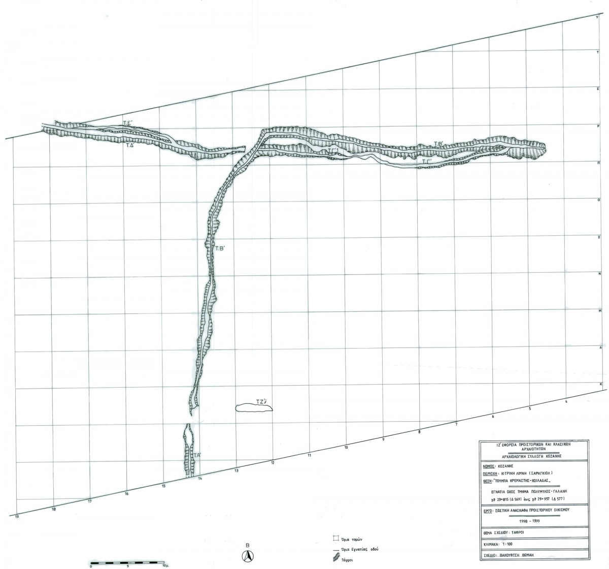 Fig. 2. Drawing of the Kremasti ditches.