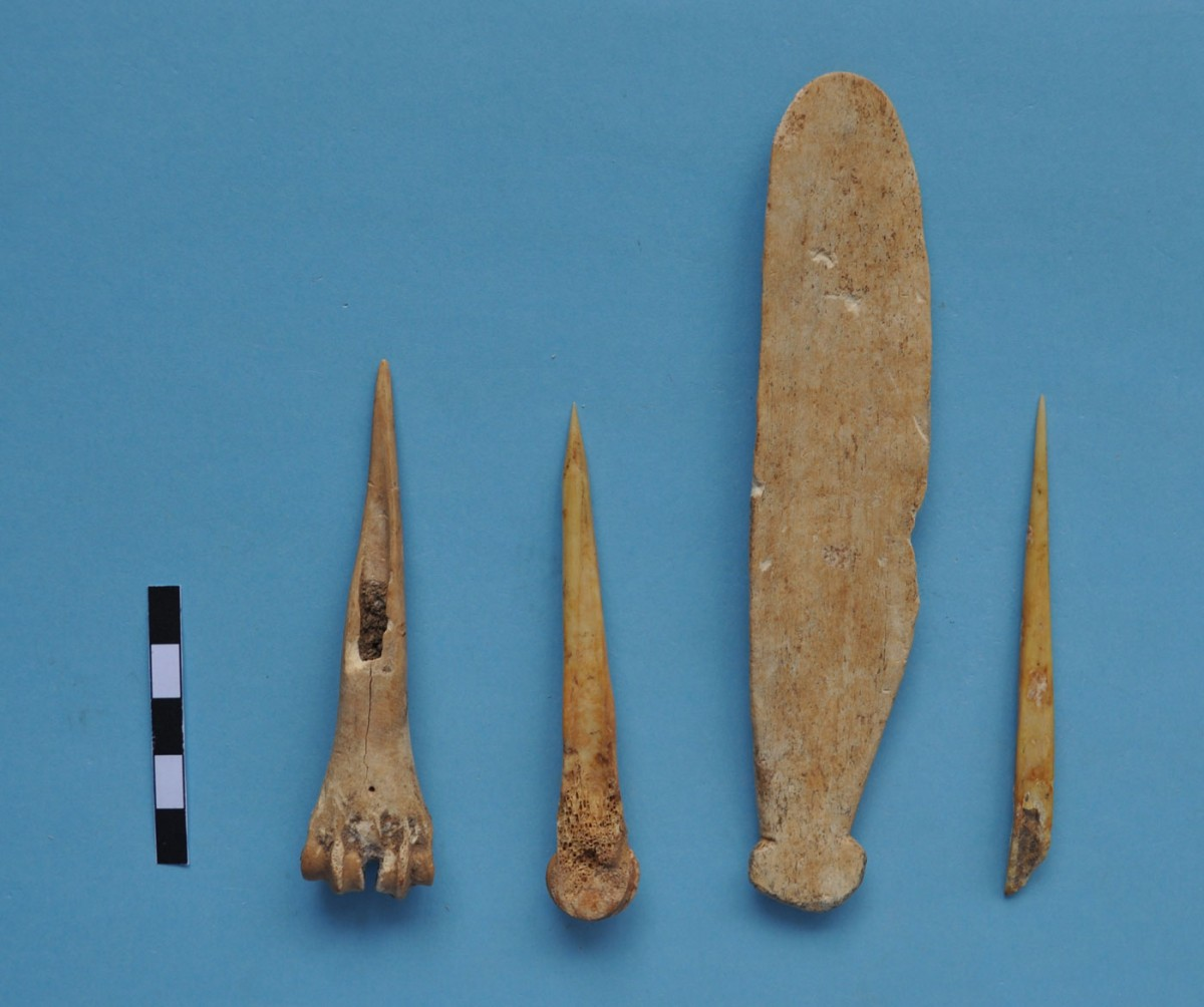 Fig. 7. Bone tools.