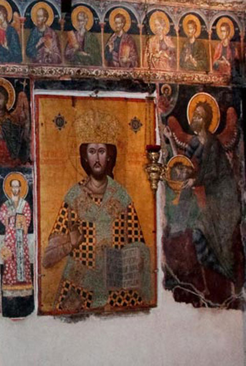 Detail of the iconostasis (Ephorate of Antiquities of Arta).