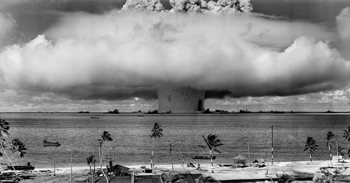 """""""Potentially the most widespread and globally synchronous Anthropogenic signal is the fallout from nuclear weapons testing,"""" according to the paper of Colin Waters et al. Photo:"""