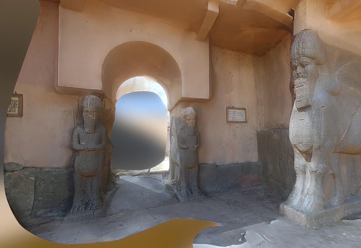 The entrance at Nimrud. Image Credit:  RUIMX ON SKETCHFAB/Heritage Daily.