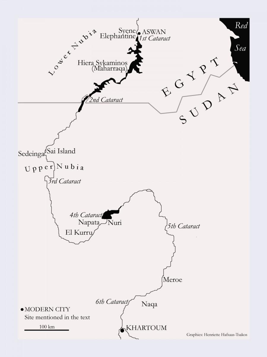 Sudan map (Henriette Hafsaas-Tsakos).
