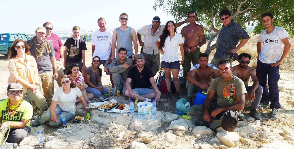 The 2015 team on Fabrika Hill, Pafos. © MafaP