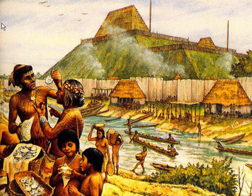 Artist's rendition of Cahokian people. Credit: Cahokia Mounds State Historic Site.