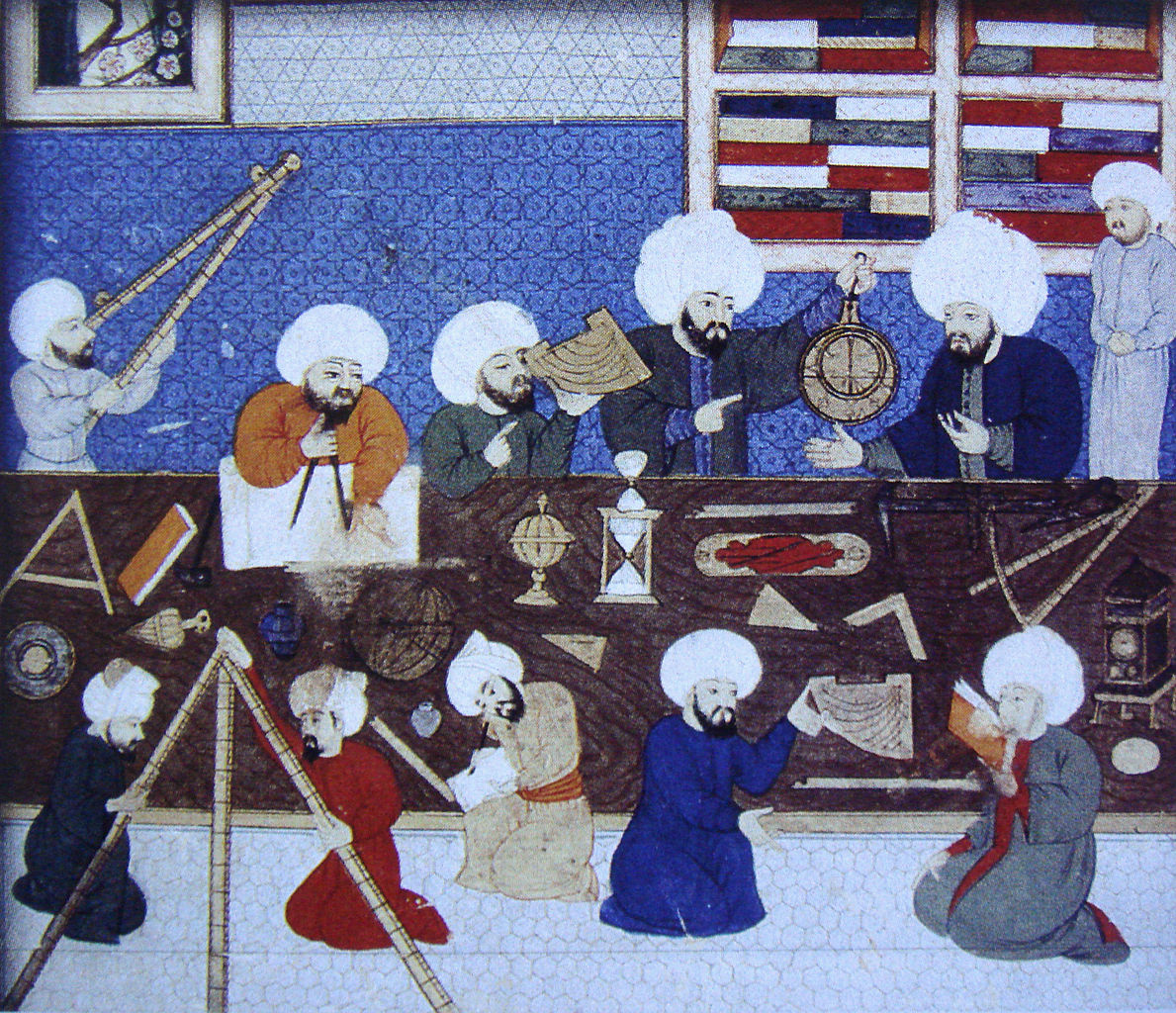 Istanbul observatory in 1577. By anonymous Ottoman artist.