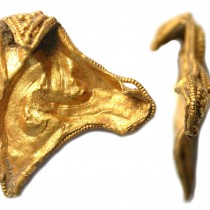 A gold mount found in Norfolk puzzles archaeologists