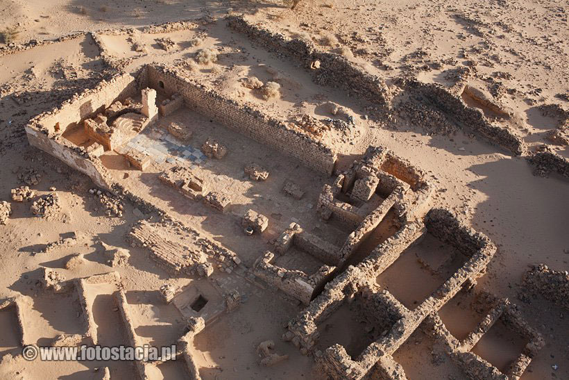 Fig. 1. Aerial view of the monastic church at Wadi el Ghazali, Northern Sudan. Photo credits: Ghazali Site Presentation Project.