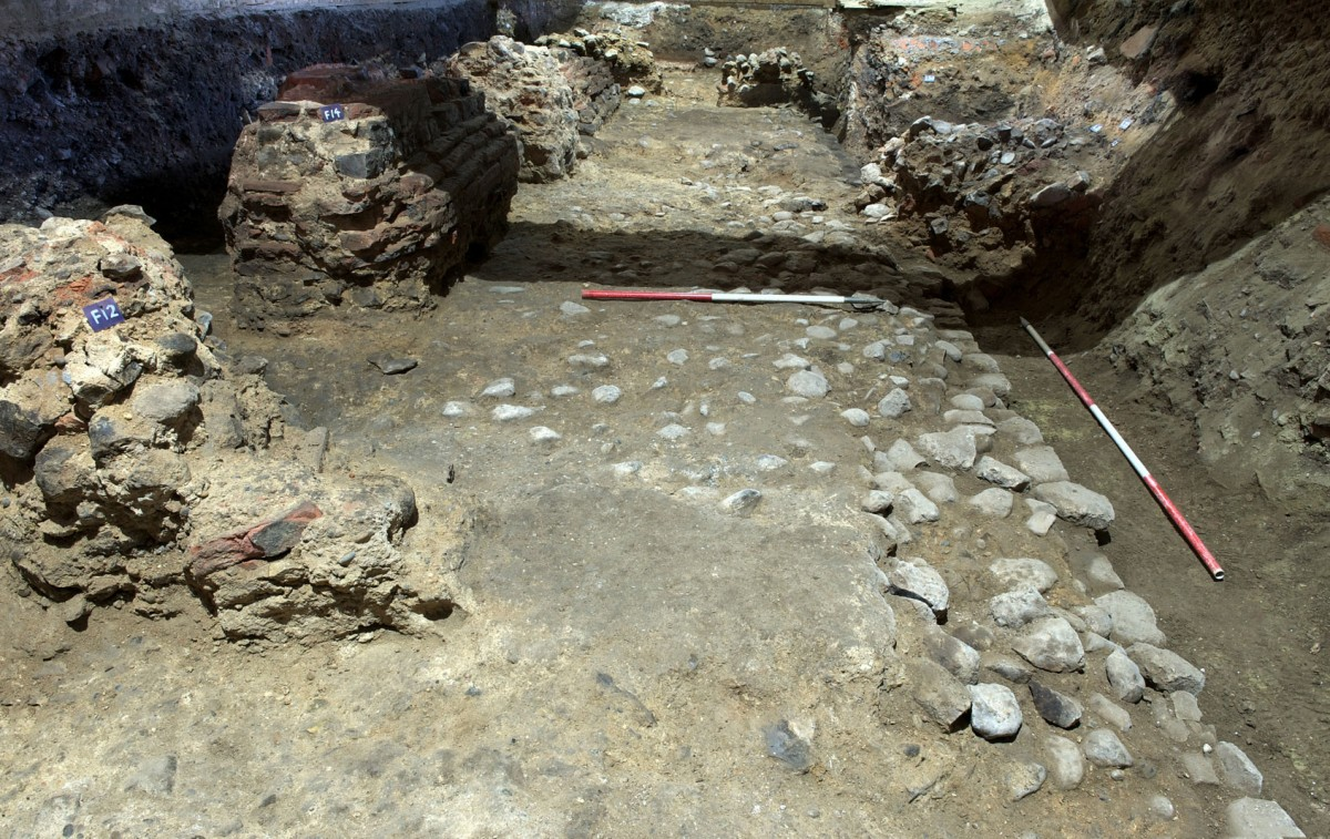 The arcade is unique in size, built in monumental proportions. Photo Credit: The Colchester Archaeological Trust.