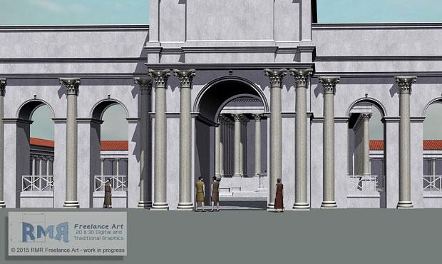 A digital reconstruction of the arcade. Photo Credit: The Telegraph/RMR Freelance Art.